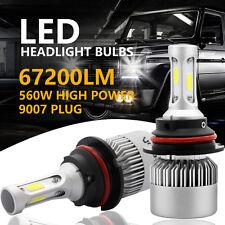 CREE COB 9007 HB5 560W 67200LM LED Headlight Kit Hi/Lo Power Bulbs 6500K White 2