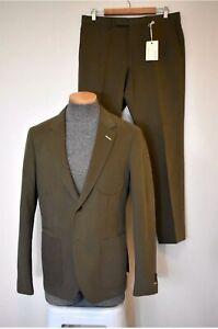 GANT RUGGER Dark Green Cotton Suit Sz 40R/34W