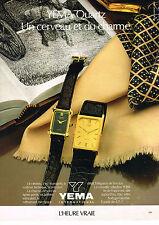 PUBLICITE  ADVERTISING   1980   YEMA QUARTZ  collection montre