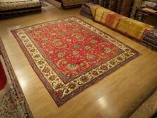 9 x 12 Handmade Antique1930s Veggie Dyes Wool Persian Rug_Beautiful Warm Colors