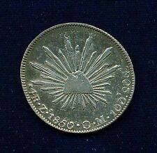 MEXICO  ZACATECAS MINT  1850-ZsOM  4 REALES SILVER COIN  XF
