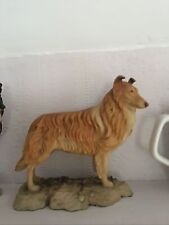 More details for rare rough collie lassie colley figurine made uk discontinued dog holland studio