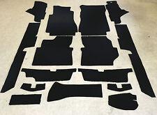 Komplettausstattung Autoteppich für Mercedes W 123 Coupe 15tlg. schwarz Neuware