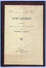 SASSARI - ORISTANO - SARDEGNA - STUDI SASSARESI - SCIENZE
