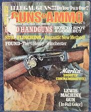 "Magazine GUNS & AMMO August 1970 ! ILLEGAL ""NO-NO"" GUNS ! *LEWIS Machine GUN*"