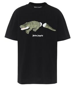 Palm Angels 20ss Summer PA Broken Tail Crocodile Print Short Sleeve T-shirt