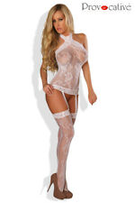 Bodystocking, combinaison, catsuit sexy, Lingerie, neuf, blanc taille unique O/S