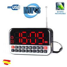 LONGRUNER L-80 Radio Despertador Pantalla LCD Portatil Reproductor de MP3 USB TF