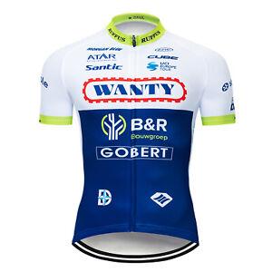2021 Men Short Sleeve Cycling Jersey Bib Shorts Kits Bike Shirt Riding Pants Set