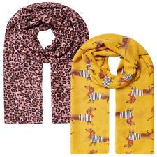 Joules Womens Isla Jlp Long Length Printed Fashion Scarf