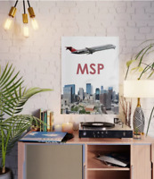"Northwest Airlines DC-9 over MSP art - 18"" x 24"" Poster"