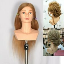 BB Hairdressing 22 inches 100% Human Hair Shoulder Training Mannequin Head
