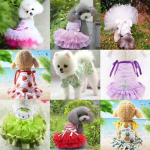 Dogs Princess Dress Pet Clothes Summer Gauze Skirt For Small Dog Chihuahua Puppy