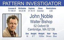 John Noble FRINGE Walter Bishop Pattern Investigator fbi Drivers License
