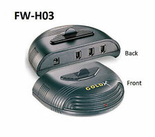 GoldX 3-Port FireWire Hub, Ideal for DV Cameras, Hard Drives, CD-RW Drives, Etc