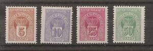 MONTENEGRO 1907 POSTAGE DUE STAMPS SET OF 4 MH