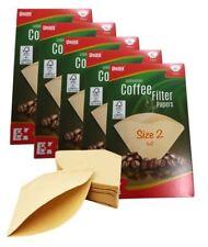 200 Taille 102 1x2 Filtre à Café Cônes en Papier non Blanchi pour
