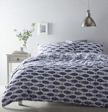 Cove King Size Duvet Pillowcases Blue Nautical Fish Coral Ocean Coastal Sea