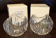 NEW Pair Mikasa PierPont Crystal Candleholder Cut Glass Candle Holders German