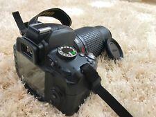 Nikon D3000 10.2MP DSLR Camera- Black (Kit w/AF-S DX VR 18-55mm & 55-200mm lens)