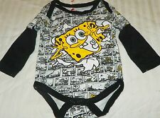 """NEW"" SpongeBob Squarepants ~ INFANT CREEPER BODYSUIT  ~ NB 3M Nickelodeon"