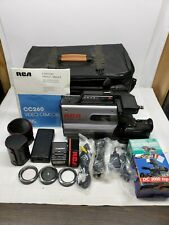 Vintage RCA CC260 Video Camera Lot w/ Case, Lens, Light, More UNTESTED AS IS