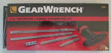 new Gearwrench 8906 6 piece Ratcheting T-Handle Screwdriver Set lot of 2