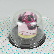 50 Clear Dome Lid Cupcake Muffin BPA-Free Picnic Parties Wedding Holder Box