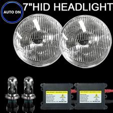 "H4 HID Light Bulb 6000K Diamond White 7"" Headlight 2X Hi/Lo beam For American"