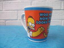 "The Simpsons Mug, Matt Groening 2005 Kinnerton ""WOO HOO NOW THAT LOOKS TASTY"""