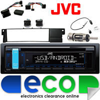 BMW 3 Series E46 JVC CD MP3 USB Aux-in Car Stereo & Steering Interface Wheel Kit