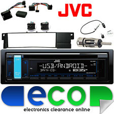 Bmw Serie 3 E46 Jvc Cd Mp3 Usb Aux-in auto estéreo & directivo interfaz Rueda Kit