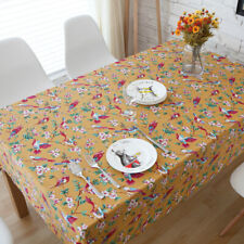 Boho Ethnic Home Kitchen Dining Tablecloth Flower Bird Printed Decor Table Cloth