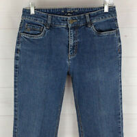 Christopher & Banks womens size 6 stretch med wash mid rise bootcut denim jeans