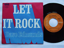 """Dave EDMUNDS Let it rock/Shot of R & B - FRENCH 7"""" 45 w/PS RCA (1975) EX"""