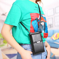 Women Cell Leather Crossbody Small Purse Wallet With Shoulder Strap Phone Bag
