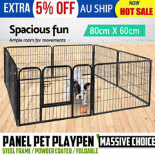 Large 8 Panel Pet Dog Playpen Puppy Exercise Cage Enclosure Fence Cat Play BP