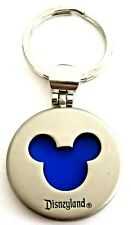Disneyland Mickey Mouse Silhouette Brushed Metal Keychain
