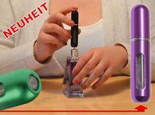 NEUHEIT Parfüm-Zerstäuber leere Flasche klein für 5ml Taschenparfüm PINK-CHROM