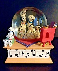 """Disney 101 Dalmatians Snow Globe Musical """"Cruella De Ville"""" Dogs Puppy No Box"""