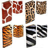 For Sony Xperia X Z M Series Case Animal Fur Skin Print Wallet Flip Phone Cover