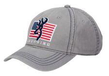 Browning Shooting Sports Flag Pride Gray Adjustable Baseball Style Cap Hat