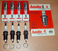 NEW Made in USA NOS Set of 4 pack Autolite 985 Resistor Spark Plug FR4LE RC12LYC
