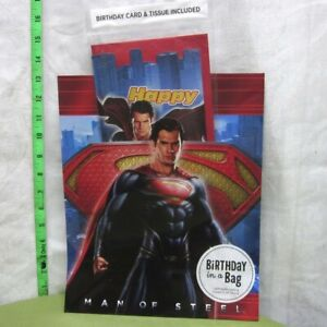 SUPERMAN Man of Steel birthday in a bag w/ card & sheets Henry Cavill 2013