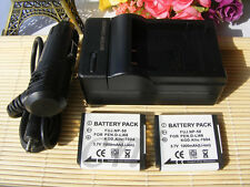 2X New Battery+charger For FUJIFILM Fuji NP-50 NP50 Finepix Kodak KLIC-7004