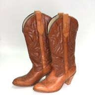 Vintage Capezio Boots Women's Size 8 Brown Leather Cowgirl Style