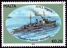 HMS NIGERIA (60) Crown Colony Class Cruiser Warship WWII Malta Convoys Stamp