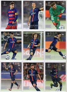 2015-16 Topps UEFA Champions League Showcase Base Card You Pick 1-100