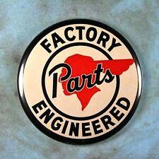 "Vintage Style Advertising Sign Fridge Magnet 2 1/4"" Pontiac Indian Car Parts"