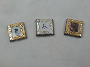 Dollhouse Miniature 1:12 Scale Small Picture Frames 3 pcs set #Z285